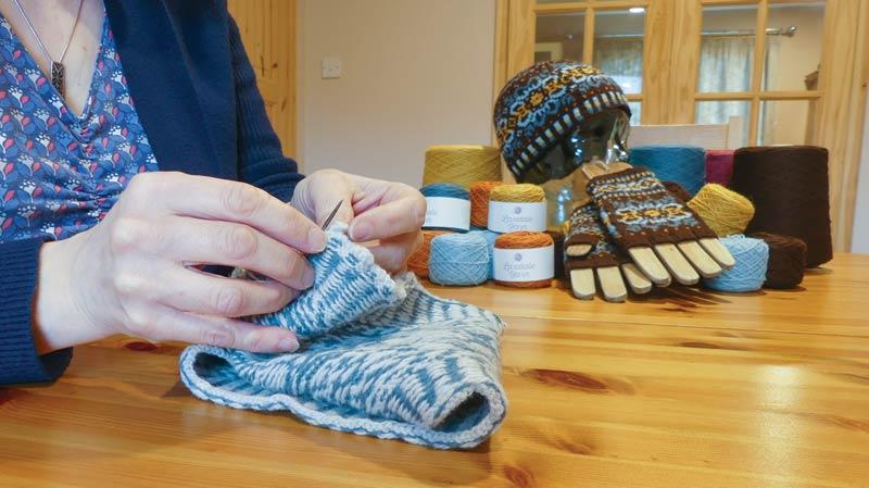 Sheila Knitting